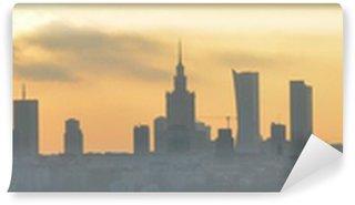 Vinylová Fototapeta Varšava sunset panorama