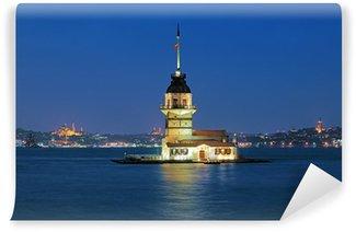 Vinylová Fototapeta Večerní pohled na Panenská věž v Istanbulu v Turecku