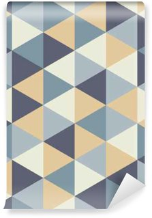 Vinylová Fototapeta Vector moderní bezešvé barevný geometrie trojúhelník vzor, barva abstraktní geometrické pozadí, polštář vícebarevný tisk, retro textura, hipster módní design