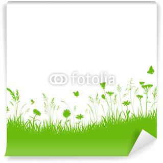 Fototapeta Winylowa Vector trawa łąka zielona