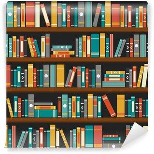 Vinylová Fototapeta Vektor knihovna knihy police pozadí
