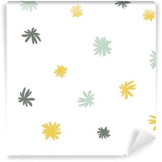 Vinylová Fototapeta Vektorové bezešvé roztomilý minimalistický květinový vzor.