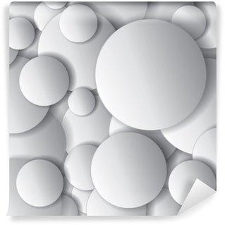 Vinylová Fototapeta Vektorové kruhy, minimální objekty, abstraktní vektorové design složení