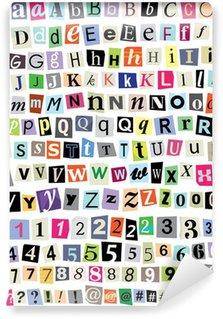 Vinylová Fototapeta Vektorové Ransom Note-Cut papírové dopisy, čísla, symboly