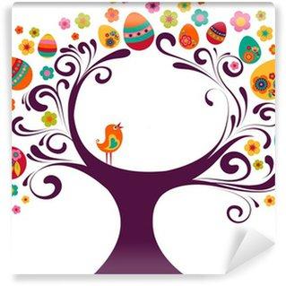Vinylová Fototapeta Velikonoční strom na pozadí