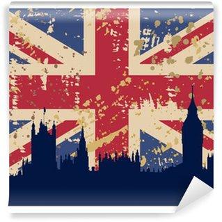 Vinylová Fototapeta Velká Británie Vlajka a Londýn