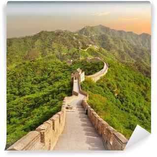 Vinylová Fototapeta Velká čínská zeď při západu slunce