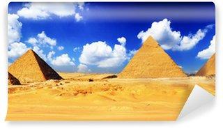 Vinylová Fototapeta Velká pyramida se nachází v Gíze.