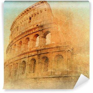 Vinylová Fototapeta Velký antický Řím - Coloseum, kresby v retro stylu