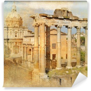 Vinylová Fototapeta Velký antický Řím - Forum, umělecká díla v retro stylu
