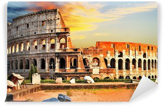 Vinylová Fototapeta Velký Colosseum na západ slunce, Řím