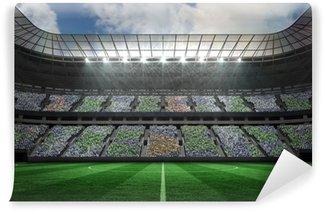 Vinylová Fototapeta Velký fotbalový stadion pod reflektory