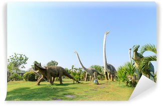 Vinylová Fototapeta Veřejné parky soch a dinosaura