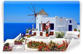 Vinylová Fototapeta Větrný mlýn na ostrově Santorini, Řecko