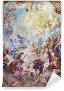 Vinylová Fototapeta Vídeň - Barokní anděl sbory freska z Michaelerkirche