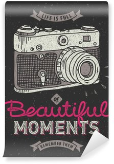 Fototapeta Winylowa Vintage aparat fotograficzny