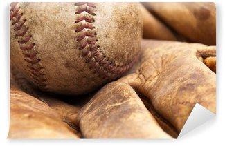 Vinylová Fototapeta Vintage baseball a rukavice
