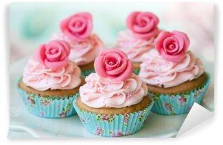 Vinylová Fototapeta Vintage cupcakes
