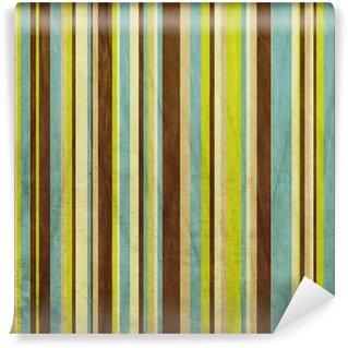 Vinylová Fototapeta Vintage hnědé, modré a zelené grunge barevné pruhované pozadí