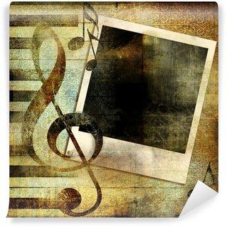 Vinylová Fototapeta Vintage hudební pozadí