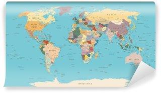 Vinylová Fototapeta Vintage mapa světa