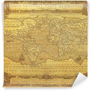 Fototapeta Winylowa Vintage, mapa świata 1602 ..