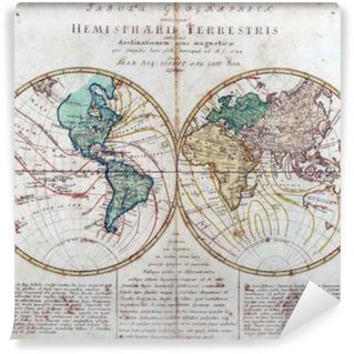 Vinylová Fototapeta Vintage mapu