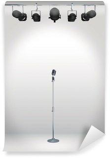Vinylová Fototapeta Vintage mikrofon s reflektorů