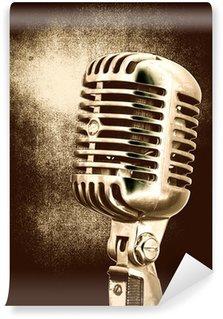 Vinylová Fototapeta Vintage mikrofon