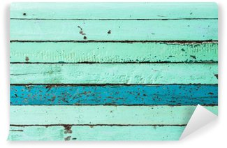 Fototapeta Winylowa Vintage niebieskie tło drewna