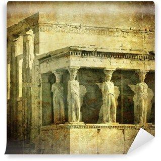 Vinylová Fototapeta Vintage obrázek Caryatids, Akropolis, Atény, Řecko