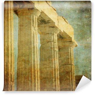 Vinylová Fototapeta Vintage obrázek z řeckých sloupů, Akropolis, Atény, Řecko