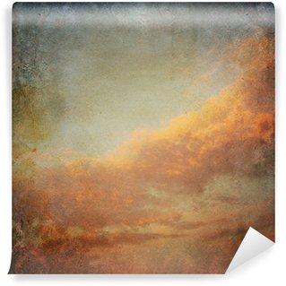 Vinylová Fototapeta Vintage pozadí s mraky na obloze