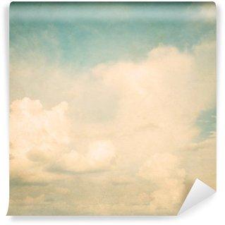 Vinylová Fototapeta Vintage přírodní pozadí oblohy s oblakem, starý papír textury