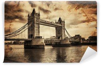 Vinylová Fototapeta Vintage Retro Obrázek Tower Bridge v Londýně, Velké Británii