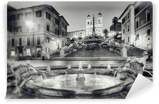Vinylová Fototapeta Vintage styl fotografii Španělské schody, Řím - Itálie.