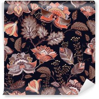 Fototapeta Winylowa Vintage szwu. Kwiaty tła w stylu prowansalskim.