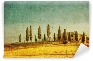 Vinylová Fototapeta Vintage toskánská krajina