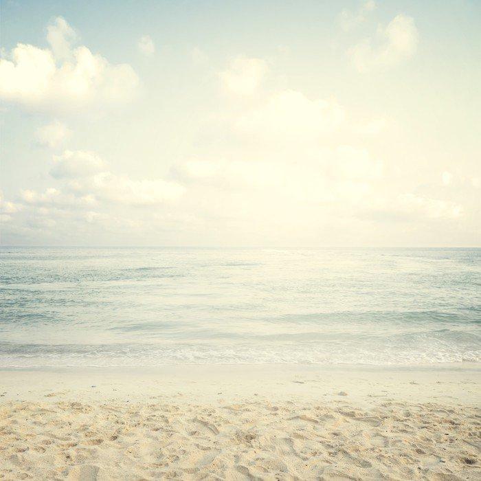 Vinylová Fototapeta Vintage tropické pláži v létě - Vinylová Fototapeta