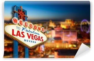 Vinylová Fototapeta Vítejte na stránkách nikdy nespí město Las Vegas