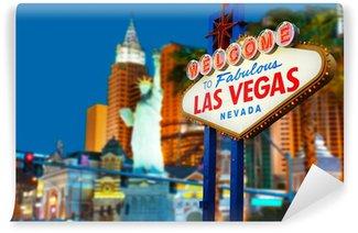 Vinylová Fototapeta Vítejte v Las Vegas neonový nápis