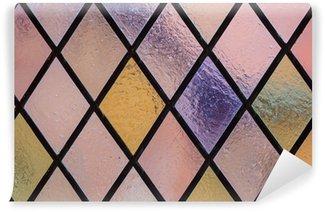 Vinylová Fototapeta Vitráže s multi barevné diamantovým vzorem jako pozadí