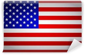 Vinylová Fototapeta Vlajka Spojených států amerických