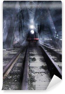 Vinylová Fototapeta Vlak jede přes most
