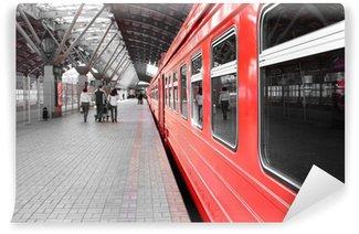 Vinylová Fototapeta Vlak na stanici