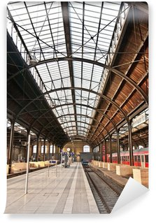 Vinylová Fototapeta Vlakovém nádraží, skleněné střechy dává krásnou harmonickou strukturu