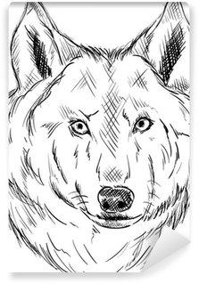 Vinylová Fototapeta Vlk hlava