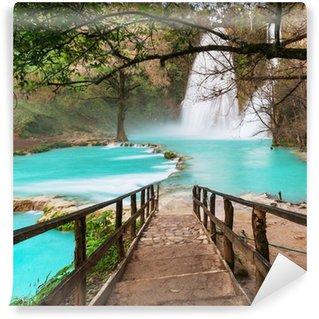 Vinylová Fototapeta Vodopád v Mexiku