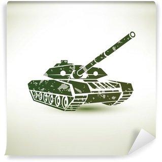 Vinylová Fototapeta Vojenský symbol nádrž