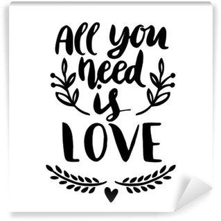Vinylová Fototapeta Vše, co potřebujete, je láska
